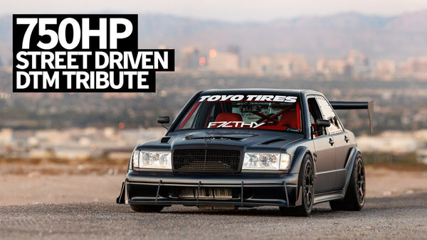 DTM Inspired Twin Turbo V8 Swapped Mercedes 190e - The Wildest Mercedes at SEMA??