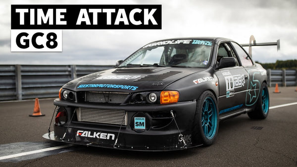 The Loudest Subaru at Gridlife: 600hp+ STI Swapped GC8 Time Attack Car