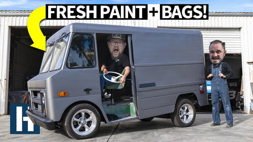 Merch Van Gets Airbags, Steel Paint, Interior and More... Building Our Ultimate Chevy P10!