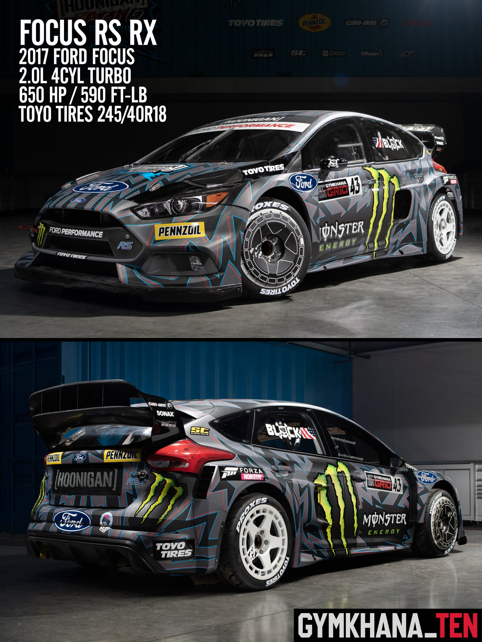 Five Cars Of Gymkhana Ten Hoonigan