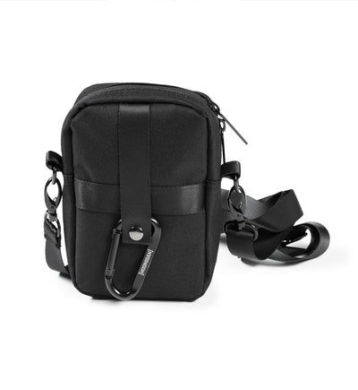 Bracket Logo Case Bag with Carabiner