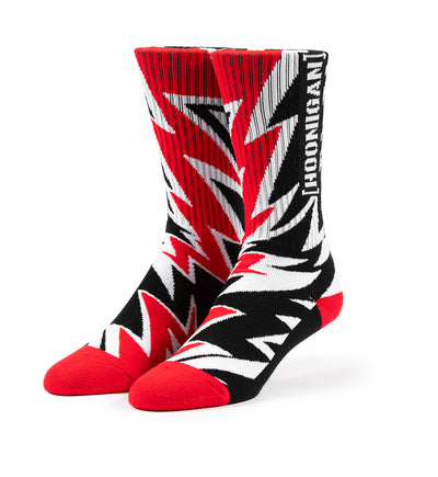 CLIMBKHANA RED BOLT crew socks