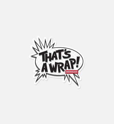 THAT'S A WRAP sticker