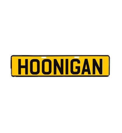 HOONIGAN EU license plate