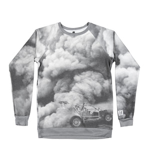 SMOKEOUT raglan fleece crew