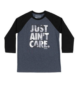 JUST AINT CARE CAMO raglan