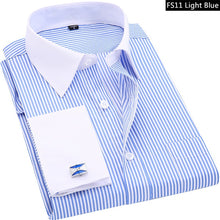 Striped Cufflinks Casual Dress Shirt