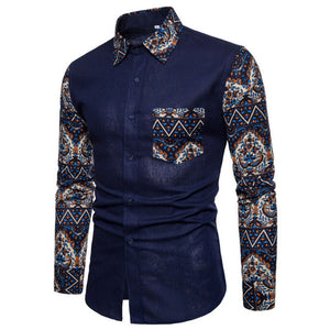 Men's Long Sleeve Europe Style Slim Fit Shirt