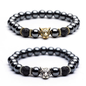 """Wild Thoughts"" - Lucky Leopard Hematite Golden & Silver - Unisex"