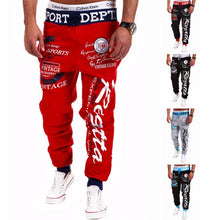 Men's Letter Printing Baggy Harem Cool Long Pants
