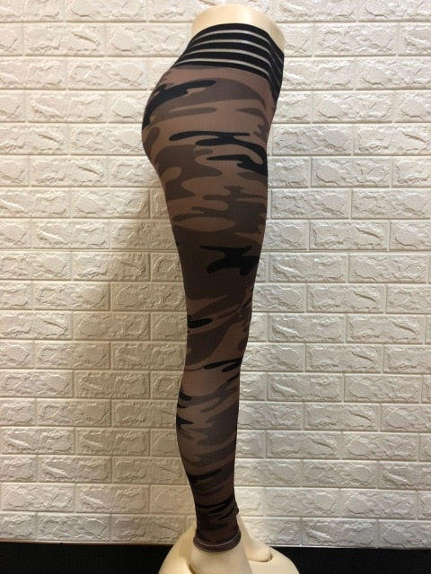 Workout Slim Printed Fitness Camouflage Legging