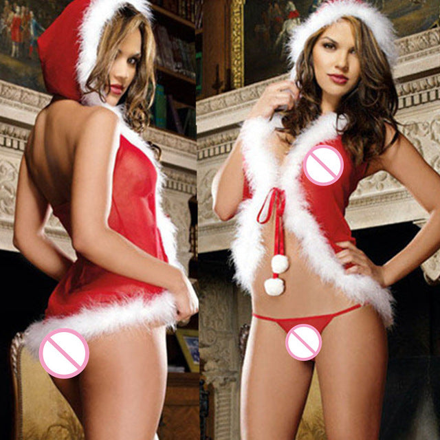 Christmas Red & White Sexy Lingerie