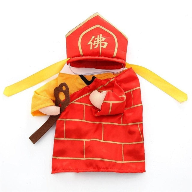 Chinese Monk Cosplay Halloween Costume For Dogs/Cats