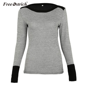 Ostrich Patchwork Knitted Casual Slim Elegant Pullovers