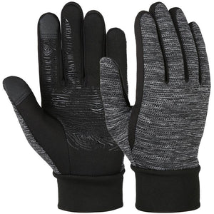 Vbiger Winter Anti-slip Gloves Touch Screen Warm Gloves Outdoor Sports Gloves for Men and Women