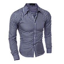 Men's Plaid Without Pocket Slim Fit Shirt