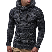 Men's Sweater Autumn Winter Pullovers Knitted Cardigan Coat Hooded Sweaters Jacket Outwear Casual Slim Fit Turtleneck Top