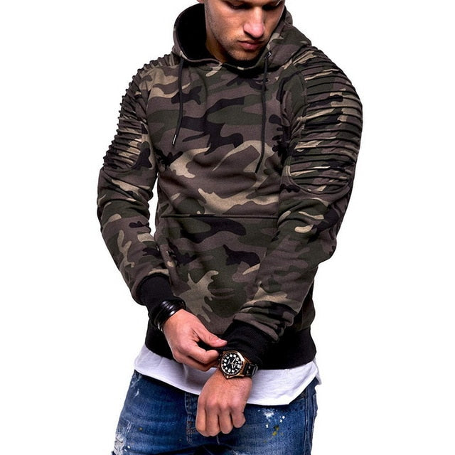 Laamei Camouflage Hoodies Men 2018 New Fashion Sweatshirt Male Camo Hoody Hip Hop Autumn Winter Military Hoodie Plus Size 3XL