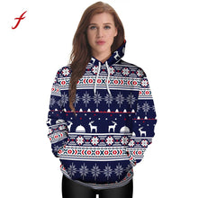 Christmas 3D Party Snowflake Elk Print Top