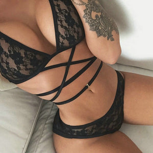 Erotic Women's Sexy Big Yards See-through Lingerie