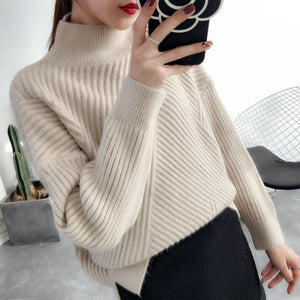 Women Turtleneck Warm Thick Pullover Sweater