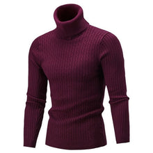 LASPERAL Casual Knitted Sweater Pullovers 2018 New Autumn Winter Warm Men's Sweater Turtleneck Slim Fit Man Double collar