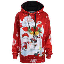 Christmas Santa Claus Snowman Hoodies Tops