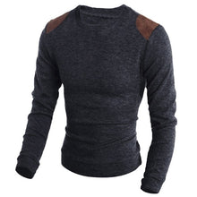 Men's Casual Warm Slim Knitted Striped Long Sleeve Sweater