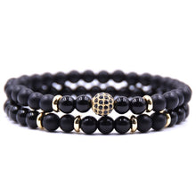Kang hua 2Pcs/set 2019 Trendy jewelry 8 style DIY Creative Bracelet Pave CZ gold Ball Bracelets for Women&Men Elegant accessorie
