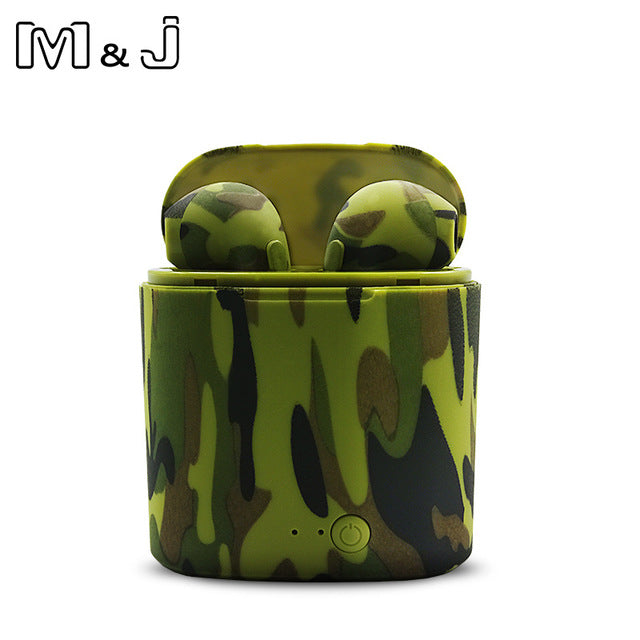 M&J i7s Tws Colorful Wireless Bluetooth Earphone Sport Headset Earbuds With  Charging box For All Smart phone not Airpod