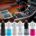 12v/24v Dual USB Car Charger - 6 Colours
