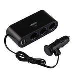 12V/24V 2 USB  Car Charger and Triple Cigarette Lighter Adaptor.