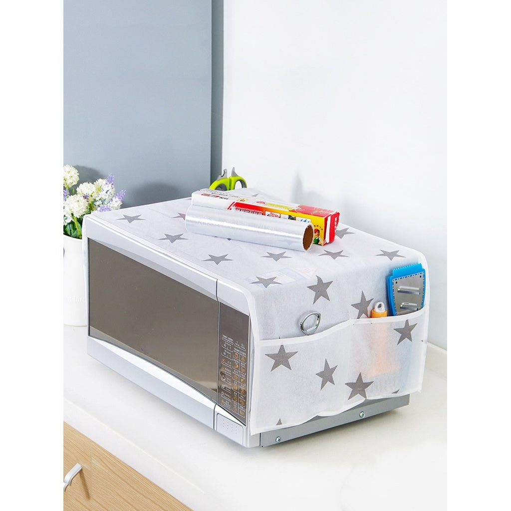 Star Print Microwave Oven Dust Cover