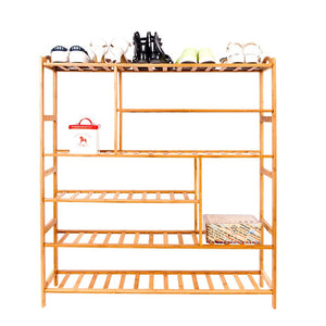 6 Tier Bamboo Shoe Rack Organizer Furniture