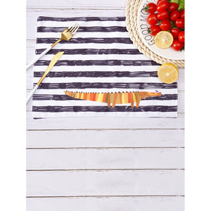 Crocodile Print Striped Table Placemat