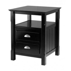 Winsome 20920 Wood Timber Nightstand - Black