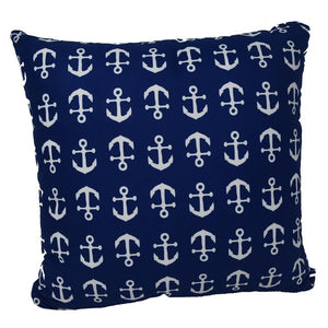"Anchor Toss Pillow 16"" x 16"" - Faux Suede"
