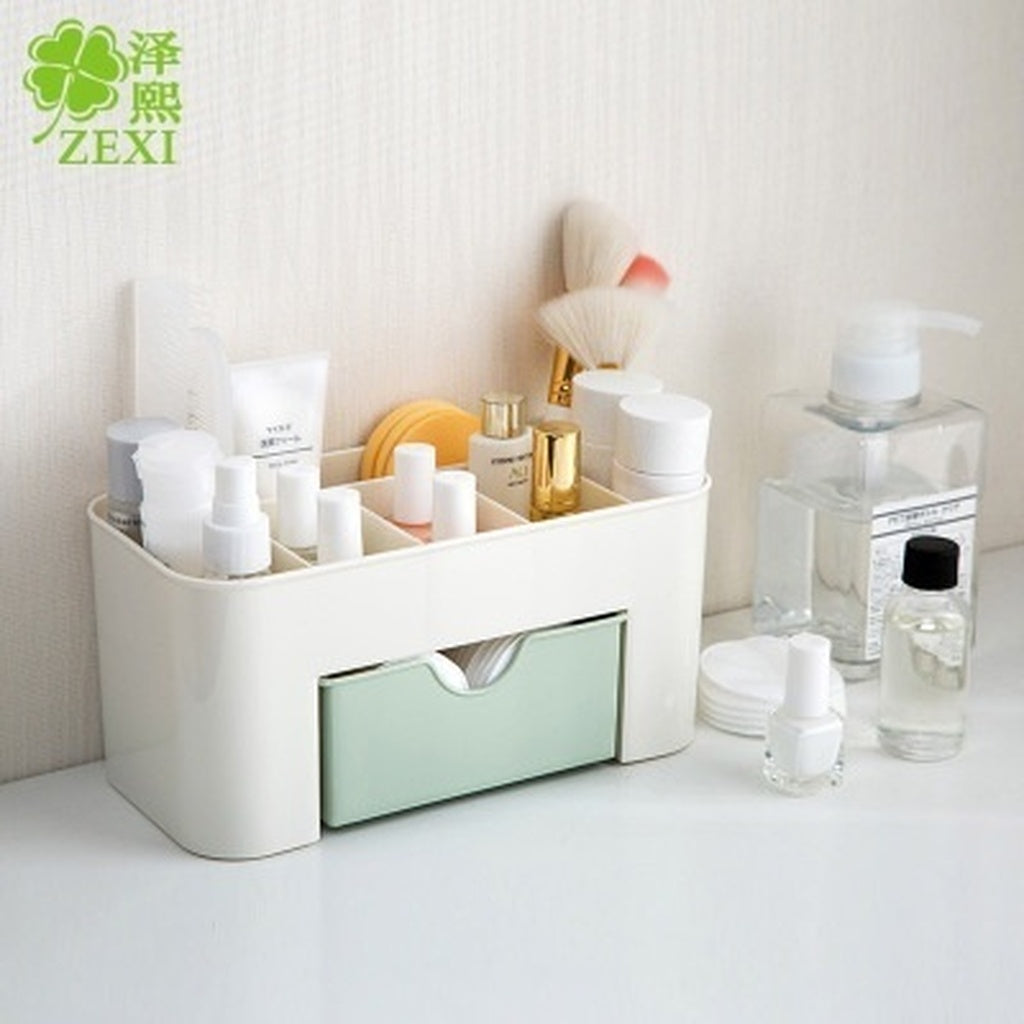 New Multifunctional Jewelry Box Storage Box Plain Desktop Makeup Cassette Small Drawer Desk Storage Box