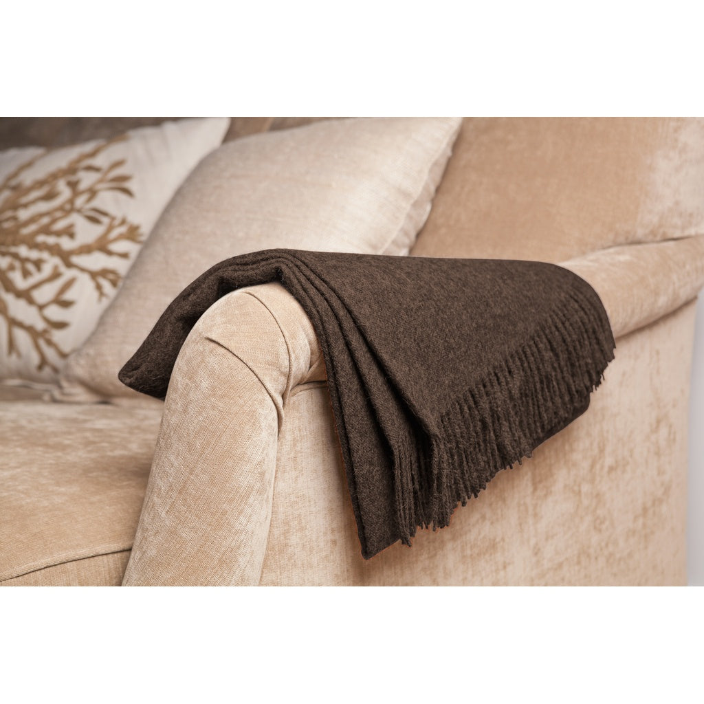 Taupe Baby Alpaca Throw