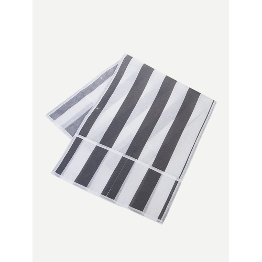 Stripe Print Microwave Dust Oven Cover