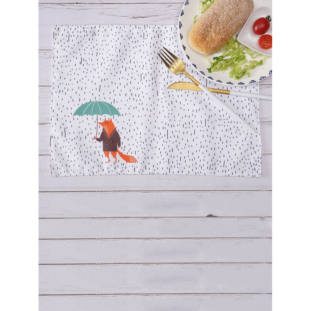 Cartoon Wolf Table Placemat