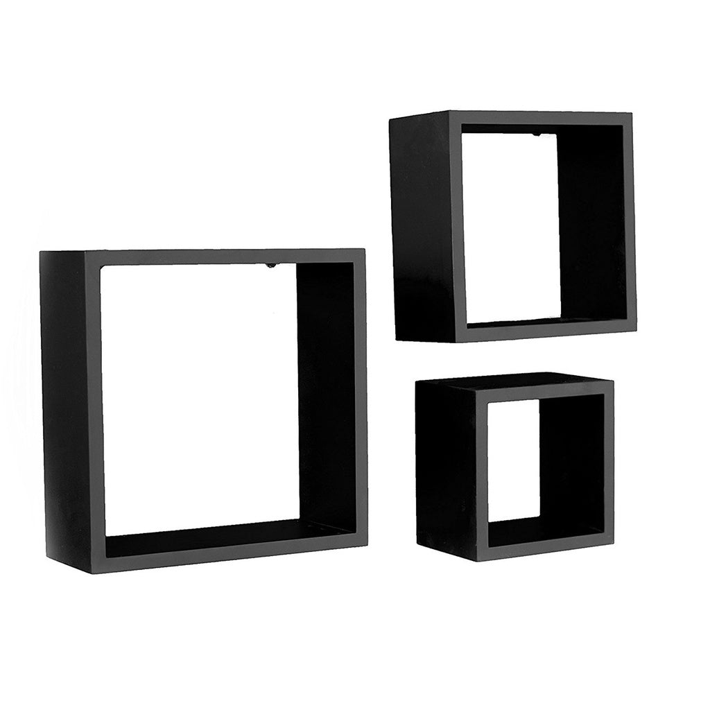 Harbortown 3 Piece Floating Shelves Wall Cube Shelves For Display Square Floating Shelves Decor Floating Shelf Set Floating Shel