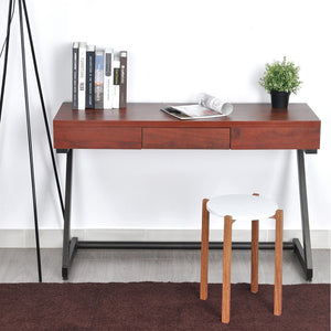 FurnitureR Hallway Table Entryway Table Console Table Brown Wooden Pattern Modern Design Table