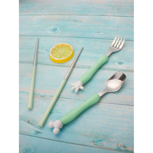 Cartoon Cutlery 3pcs With Case