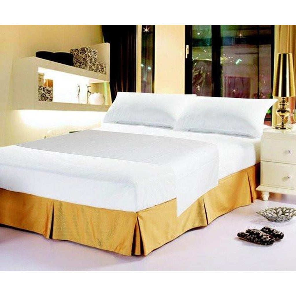Luxury Solid Soft White Linen Fitted Bed Sheet Set & Pillow Cases Sham Cover (FTS098765)