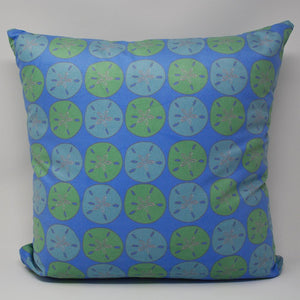 "Sand Dollar Pillow 16"" x 16"" - Faux Suede"