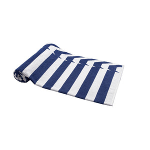 Blue Nautical Stripes Beach Towel