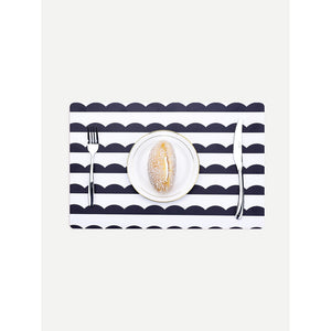 Scallop Print Table Mat 2pcs