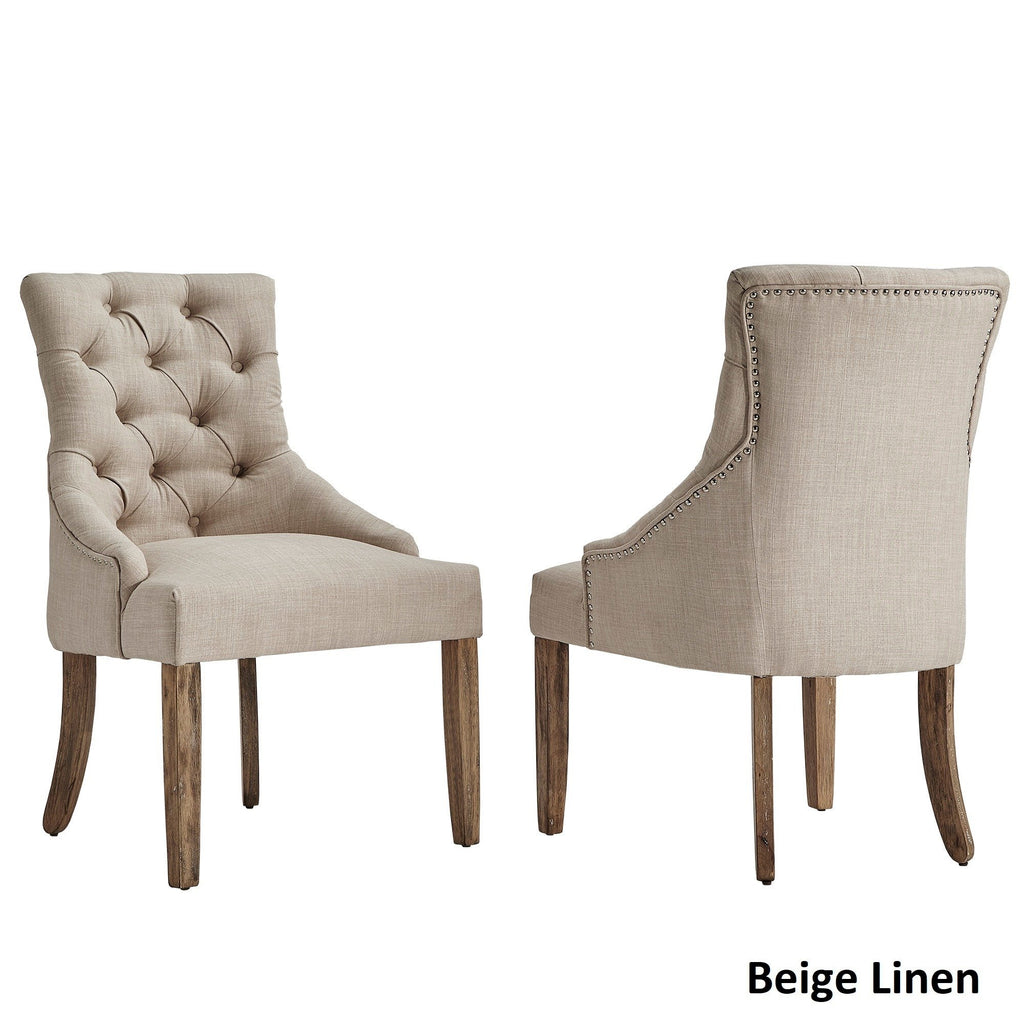 Benchwright Button Tufts Wingback Hostess Chairs (Set of 2) by iNSPIRE Q Artisan