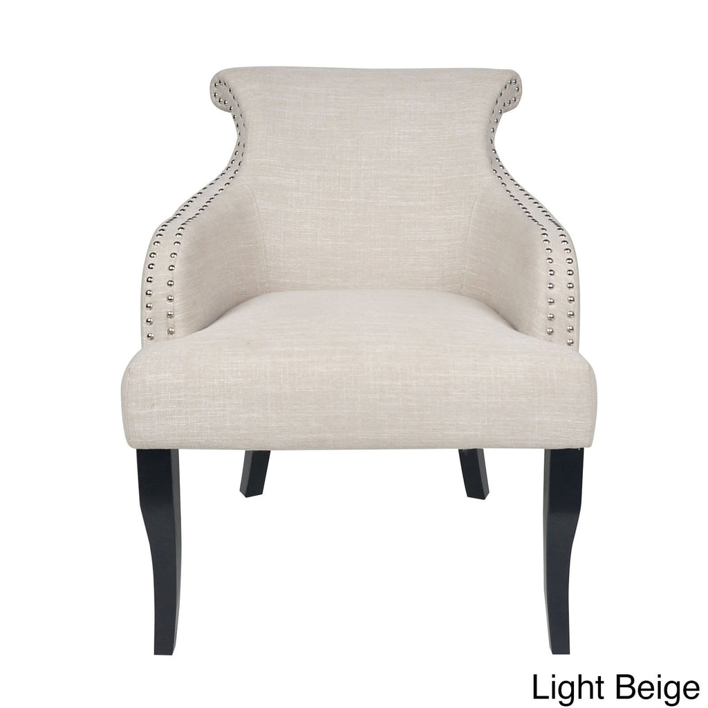 Filmore Fabric Arm Chair by Christopher Knight Home - Light Beige